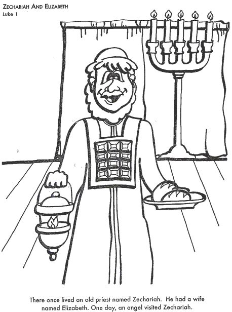 coloring pages zechariah and elizabeth bible coloring pages zechariah and elizabeth