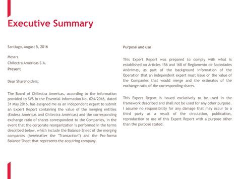 startup executive summary template