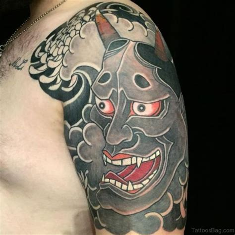 oni mask tattoo 60 gorgeous mask tattoos for shoulder