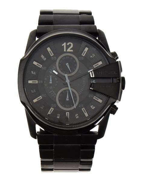 Diesel Black diesel wrist in black for lyst