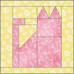 all stitches cat paper piecing quilt block pattern pdf