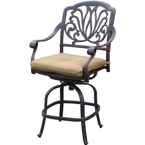 outdoor bar height stools darlee elisabeth cast aluminum patio counter height swivel