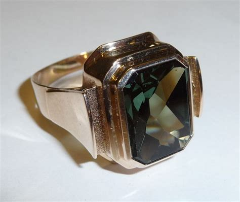antique tourmaline ring 333 8k gold s and s