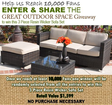 Furniture Giveaway by Wicker Patio Furniture Giveaway From Patioshoppers 5 Minutes For