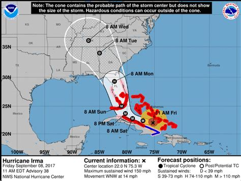 hurricane irma hit date hurricane irma updates for central florida 2016