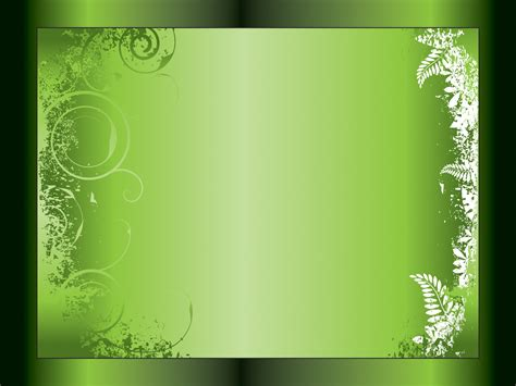 Wedding Background Apple Green by Green Swirl Powerpoint Templates Black Border