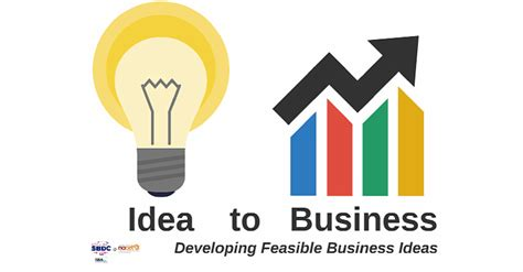 idea for idea to business developing feasible business ideas nacet