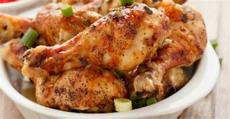 crispy oven baked honey garlic chicken drumsticks aunt