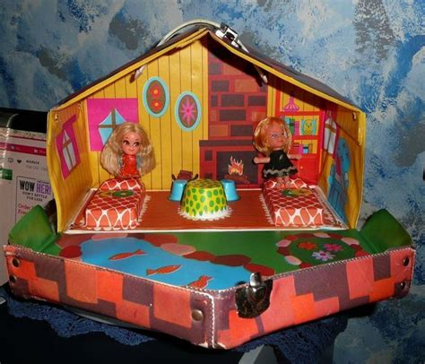 play house dolls 1960 s mattel liddle kiddles kabin playhouse doll case two dolls from