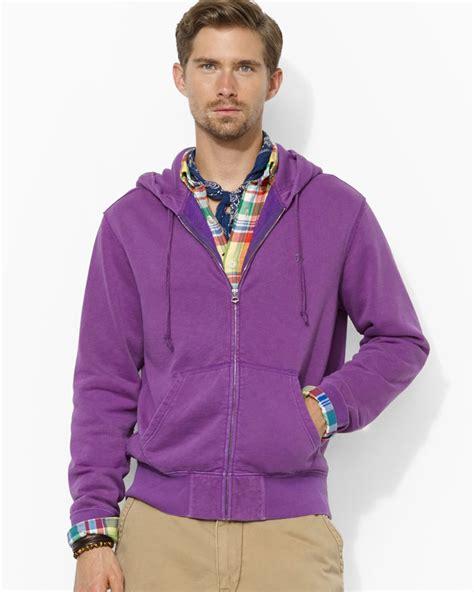 Jaket Sweater Polos Oblong Hoodie Jumper Hoodie Polos Sixe ralph polo fullzip fleece hoodie in purple for lyst