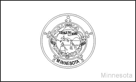 minnesota state flag coloring pages usa for kids