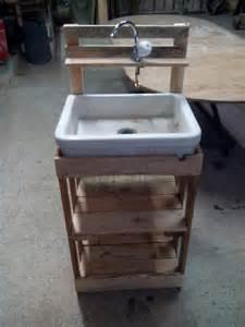 Vanity Bench Set Wooden Pallet Outdoor Sink Pallet Furniture Diy