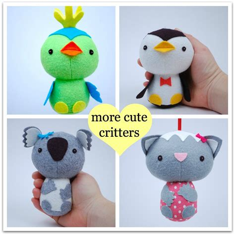 more cute critters pdf sewing pattern for easy to sew