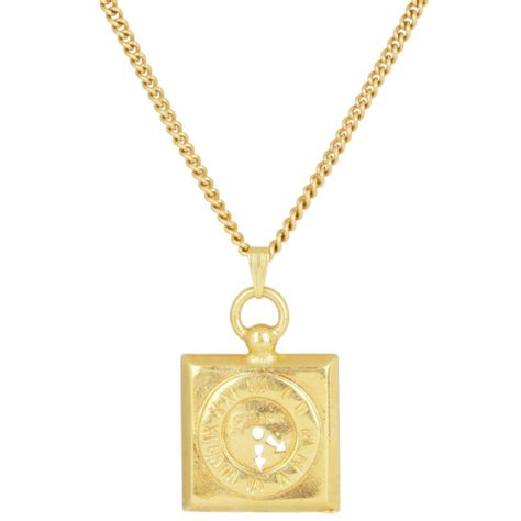 Square Pendant Necklace susan caplan gold plated chain necklace square