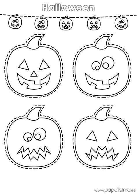 Imagenes De Calabazas De Halloween Para Imprimir | dibujos de calabazas de halloween para recortar papelisimo