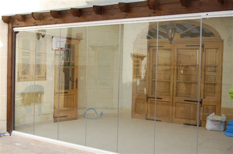 Single Glass Patio Door Single Glazed Frameless Doors Folding Sliding Patio Door Bifold Doors
