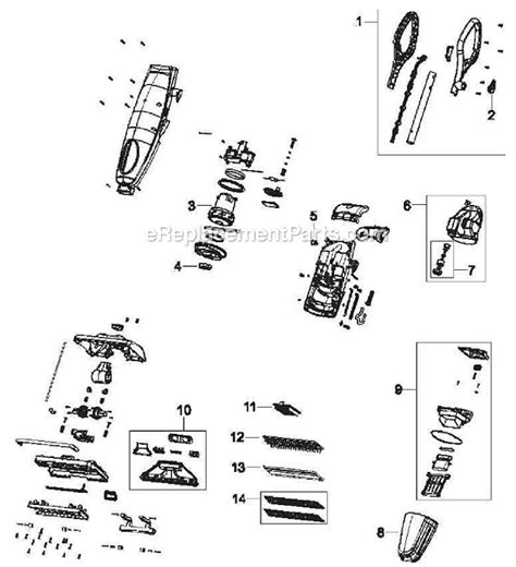 bissell vacuum parts diagram bissell 5200 parts list and diagram ereplacementparts