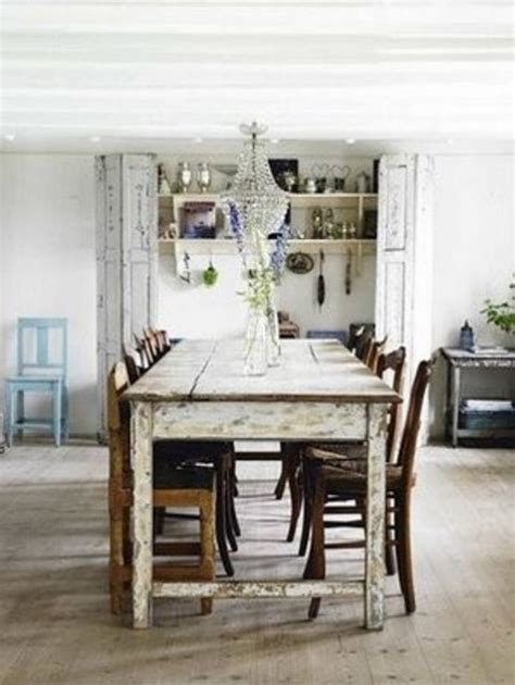 Country Chic Dining Table 39 Beautiful Shabby Chic Dining Room Design Ideas Digsdigs