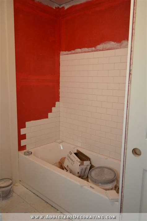 how to make a tile bathtub subway tile bathtub surround