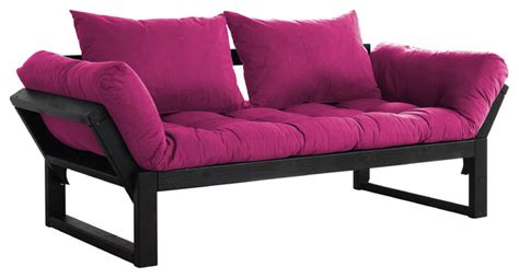 Pink Futons by Edge Convertible Futon Sofa Bed Black Frame Pink