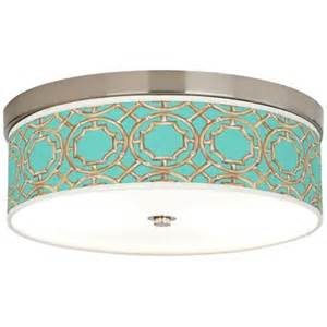 Teal Ceiling Lights Teal Bamboo Trellis Giclee Energy Efficient Ceiling Light H8796 5m864 Www Lsplus