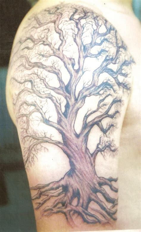 tree shoulder tattoo family tree tattoos designs ideas and meaning tattoos