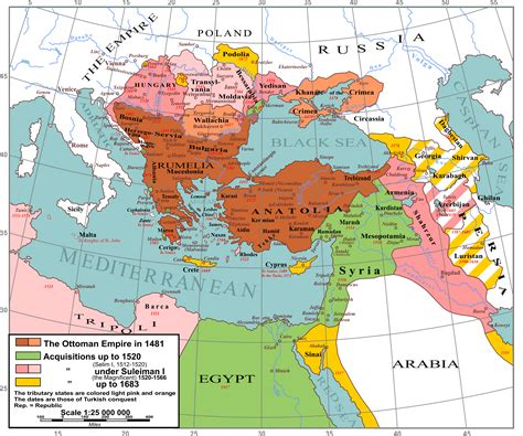 Map Of Ottoman Empire Map Of The Ottoman Empire
