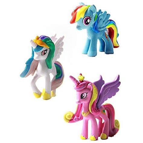 Figure My Pony 12pc oliadesign 12 set my pony cake toppers cupcake toys figurines decoration for