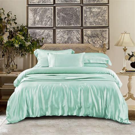 Mint Green Duvet Set Mint Green Silk Bed Linen 100 Mulberry Silk