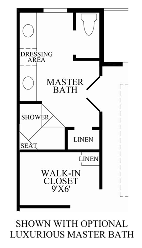 master bath floor plans no tub loudoun valley the buckingham the denham home design