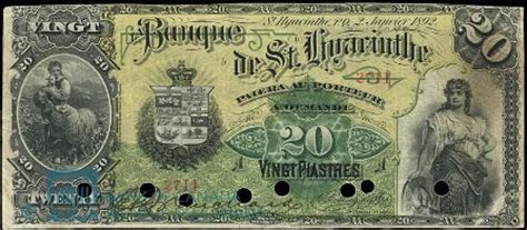 la banque de st. hyacinthe banknote values | canadian currency