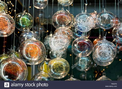 winter decorations for sale handmade tree decorations for sale at the market stock photo royalty free