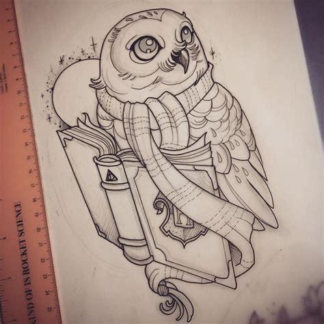 owl tattoo harry potter resultado de imagem para tatuagem coruja com livros