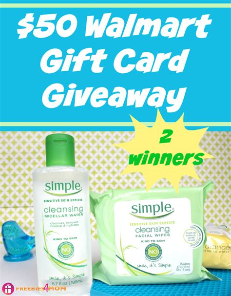 50 Walmart Gift Card - 50 walmart gift card giveaway be kind to your skin testthewater