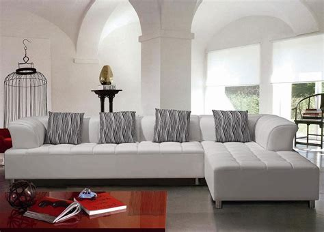 modern white leather sofa great living room furniture set