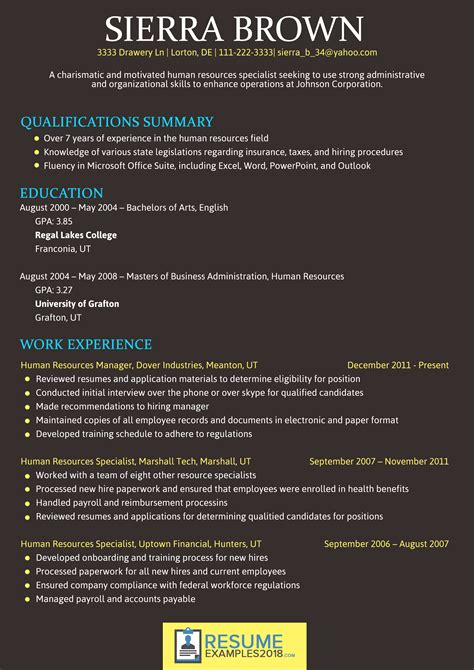 What Is The Best Font For Resumes by Best Font For Resume 2018