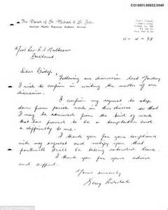 letters from paedophile priest gerald ridsdale to one of