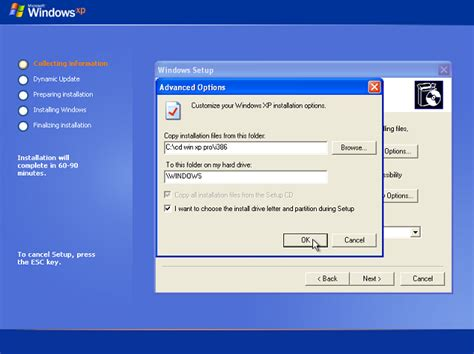 xp setup virtual directory how to reinstall windows xp professional on the same