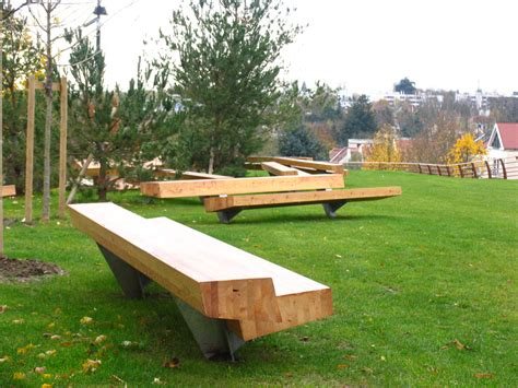 bench landscape modern outdoor table bench moderni