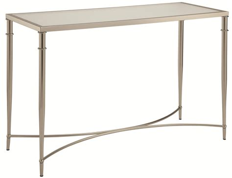 metal top console table 70334 sofa table with metal legs and frosted glass top