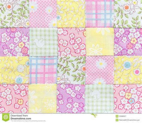 Basic Patchwork Quilt - patchwork quilt basic pattern square stock photo image