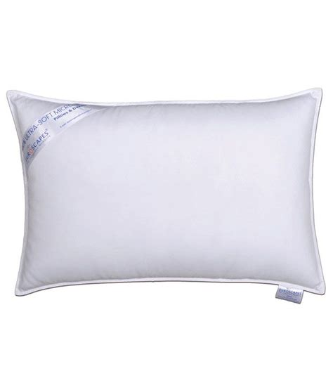 M Pillow by Euroscapes M F White Microfiber Pillow Buy Euroscapes