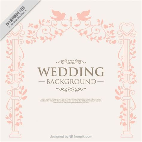 Wedding Background Decorations by Decoration With Birds Wedding