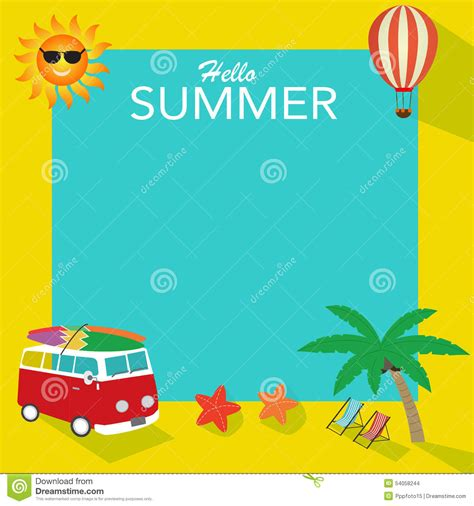 summer themes summer background stock vector image 54058244