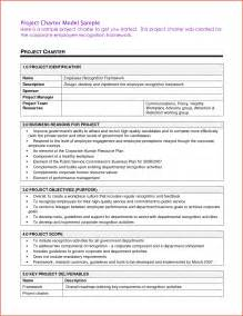 program charter template project charter sle proposalsheet