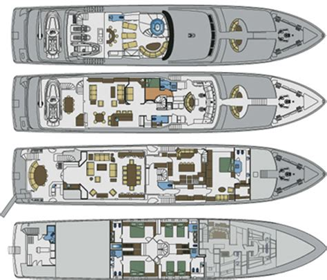 layout yacht four wishes luxury motor charter yacht
