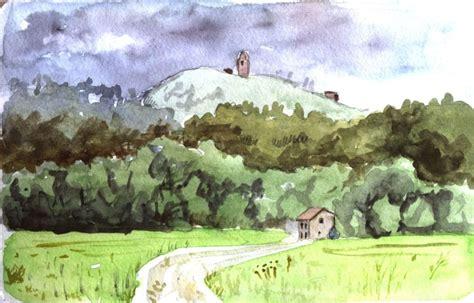 imagenes de paisajes en acuarela dibujos a acuarela paisajes faciles imagui