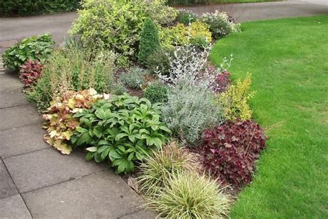 shrub border plans small garden border in leicestershire designed and planted by michael