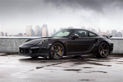 porsche supercar black topcar reveals black porsche 911 stinger gtr gtspirit