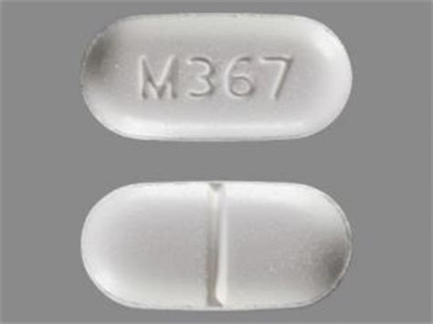 Acetaminophen Hydrocodone For Help Wioth Methadone Detox by M367 Pill Images White Capsule Shape